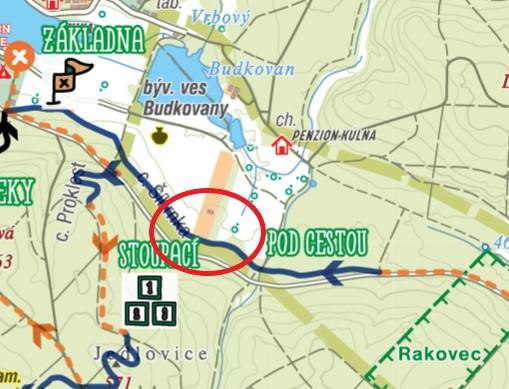 Těžba v Jedovnicích na úseku Pod cestou (okruh č. 2)